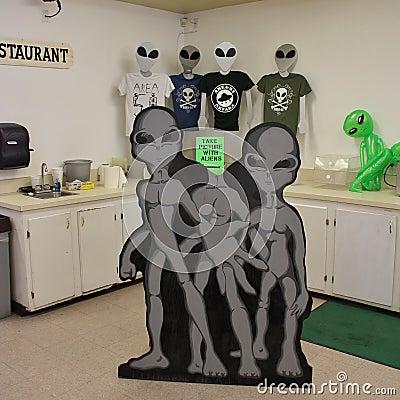 Free Area 51 Alien Center Royalty Free Stock Photos - 57460658