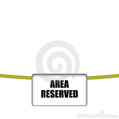 Area reserved