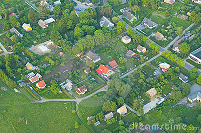 Areal view of a settlement