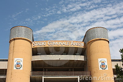 Arechi Stadium, Salerno (Italy) Editorial Stock Photo