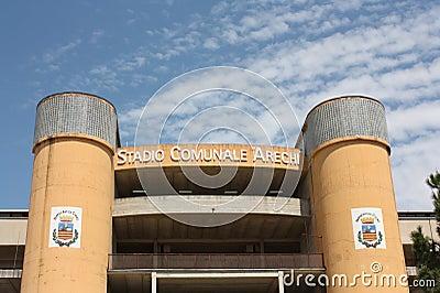 Arechi Stadium, Salerno (Italy) Editorial Stock Photo