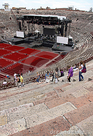The Arena colosseum in Verona, Italy Editorial Photography