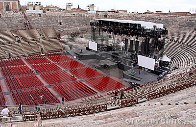 The Arena colosseum in Verona, Italy Editorial Stock Image