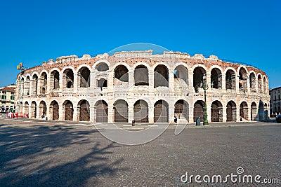 Arena of verona, roman amphitheatre. italy
