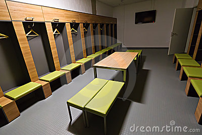 Areny cloakroom pge graczów stadium Obraz Editorial