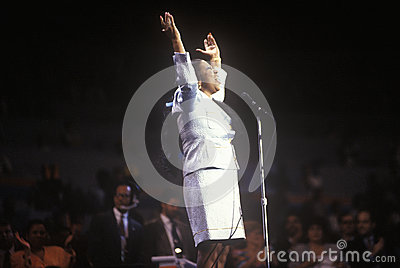 Aretha Franklin Redactionele Fotografie