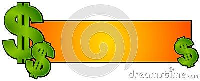 Argent d argent comptant de logo de page Web