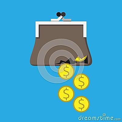 argent de bourse d chir e illustration de vecteur image 54447362. Black Bedroom Furniture Sets. Home Design Ideas