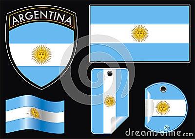 Argentina crest e flag