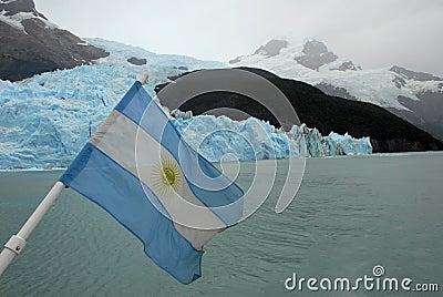 Argentina Flag, lake Argentino