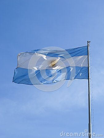 Argentina flag on a pole
