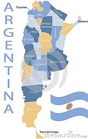 Argentina map.