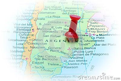 Argentina in map