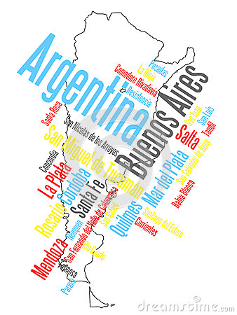 Argentina map and cities