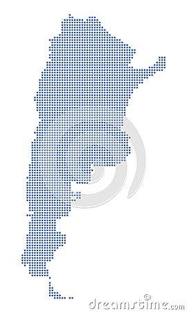 Argentina map dots