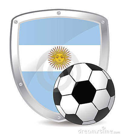 Free Argentina Shield Soccer Stock Photography - 14233342