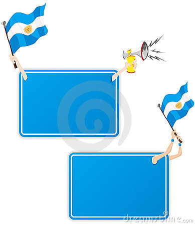 Argentina Sport Message Frame with Flag.