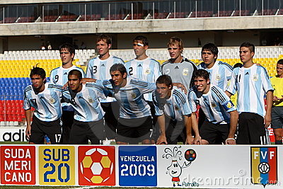 Argentina U20 team Editorial Stock Image