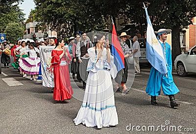 From el alcazar misiones argentina dancers in traditional dress