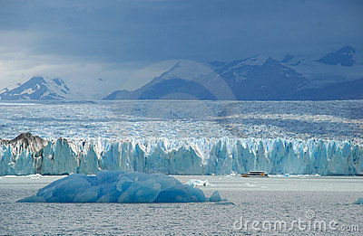 Argentine excursion ship near the Upsala glacier