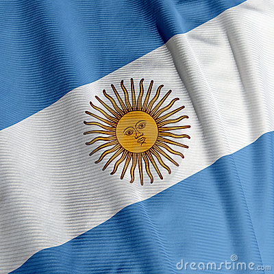 Argentine Flag Closeup