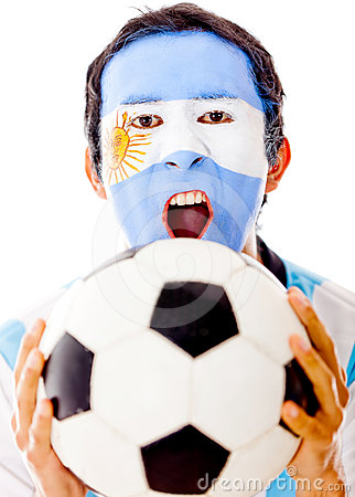 Argentinean celebrating a goal