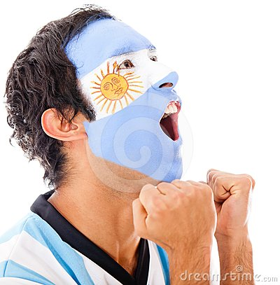Argentinean man shouting