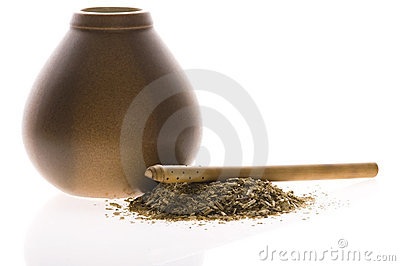 Argentinian calabase with yerba mate