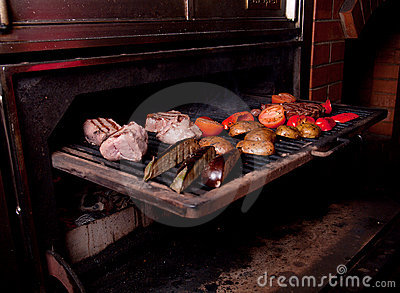 Argentinian cooking meat  barbecue