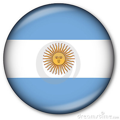 Argentinian Flag Button