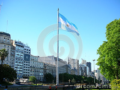 Argentinian flag flapping Editorial Photography