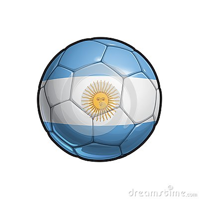 Free Argentinian Flag Football - Soccer Ball Stock Photo - 119031360