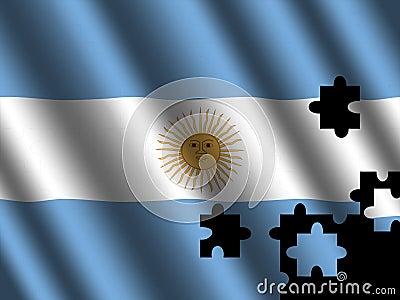 Argentinian flag jigsaw