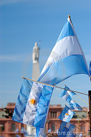 Argentinian Flag in May square pyramid