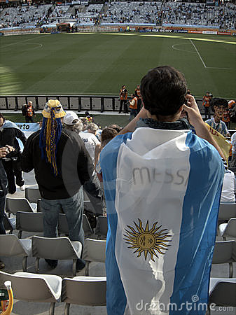 Argentinian football supporter Editorial Photography