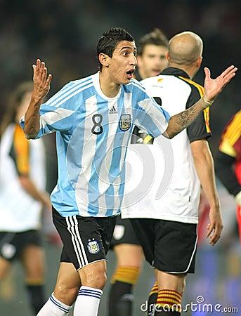 Argentinian footballer Di Maria Editorial Stock Photo
