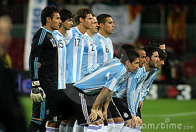 Argentinian players Editorial Photo