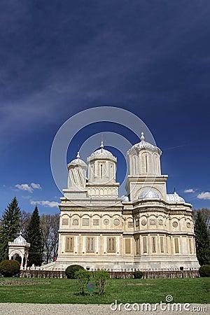 Arges美丽的cathedral curtea de landmark