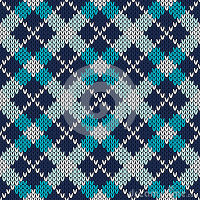 Free Argyle Knitted Pattern. Seamless Vector Background Royalty Free Stock Photography - 49988617
