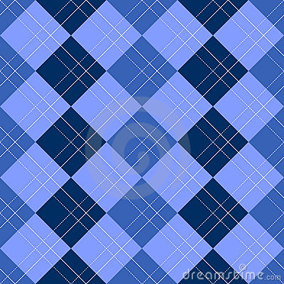 Argyle Pattern Blue