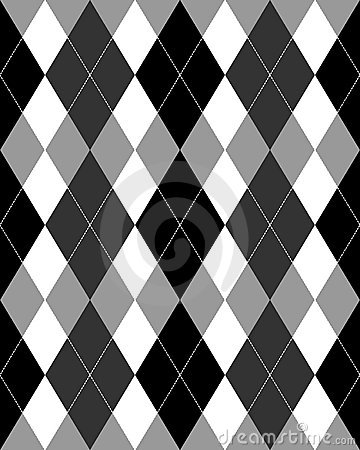 Argyle Pattern Grayscale EPS