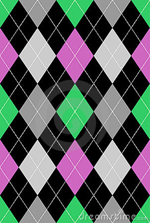 Free Argyle Pattern Pink & Green EPS Royalty Free Stock Images - 15645959