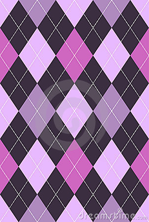 Argyle Pattern Pink & Purple