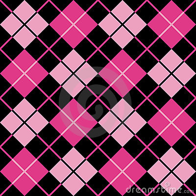 Free Argyle Pattern_Black-Magenta-Pink Stock Photo - 3723240