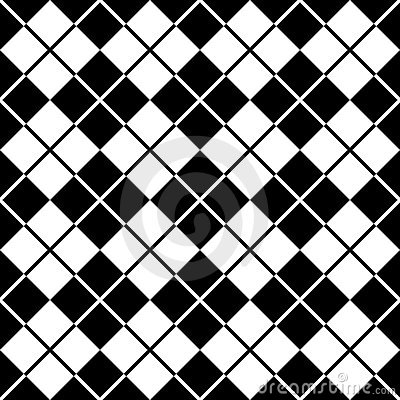 Free Argyle Pattern_Black-White Royalty Free Stock Images - 3723259