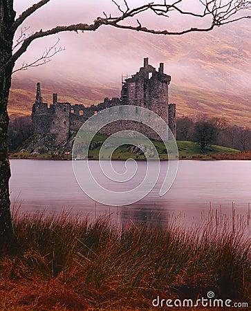 Argyll κάστρο kilchurn βρέχοντας Σκωτία