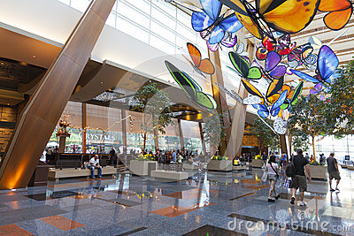 Aria Hotel Lobby in Las Vegas, NV on April 27, 2013 Editorial Stock Image