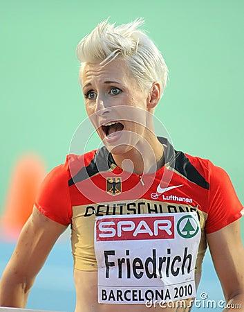 Ariane Friedrich of Germany Editorial Stock Image