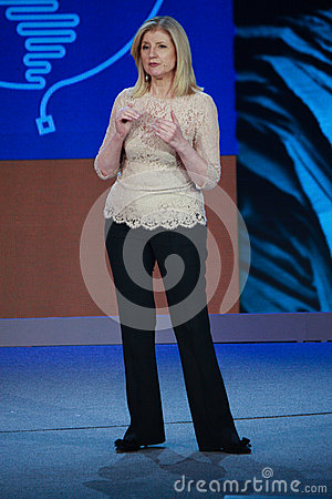 Free Arianna Huffington At Microsoft Convergence Royalty Free Stock Images - 38903169
