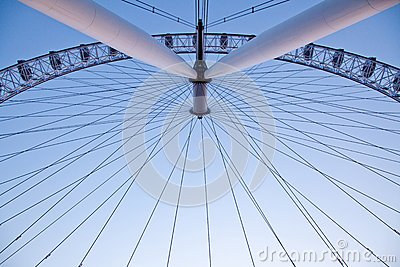 Arichitecture of London Eye Editorial Photography
